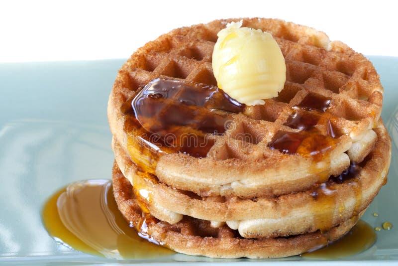 waffles сиропа масла стоковые фото