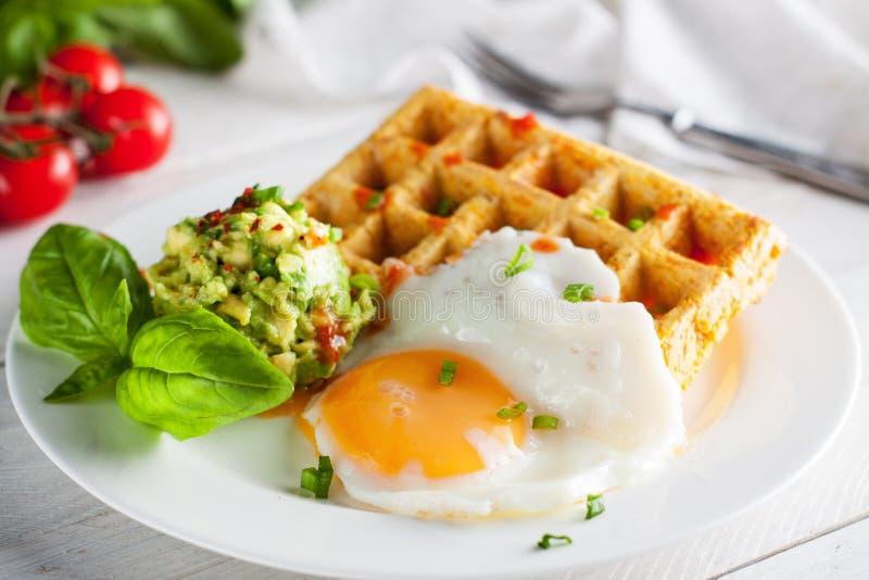 Waffles сладкого картофеля стоковая фотография rf