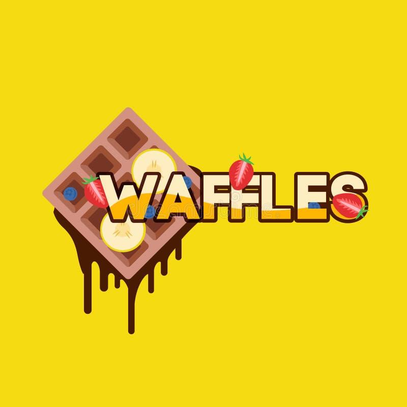 Waffles с бананом бесплатная иллюстрация