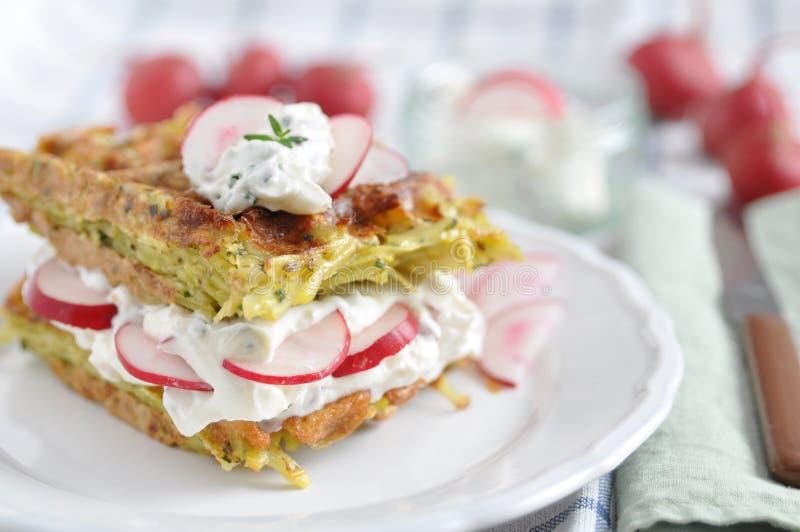 Waffles с плавленым сыром стоковое фото
