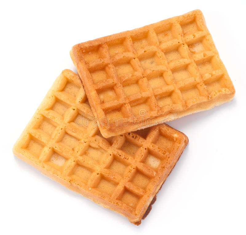 Waffles. On a white background royalty free stock photo