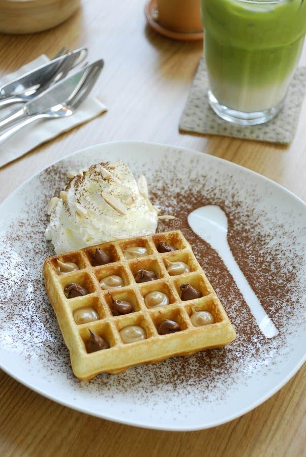 Download Waffles stock photo. Image of cream, sweet, homemade - 27064274