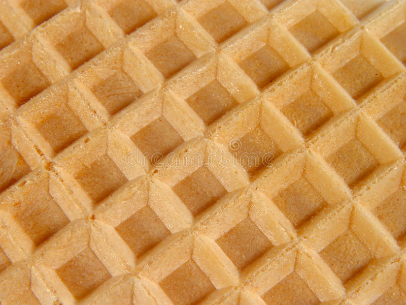 Waffles. Structure stock image