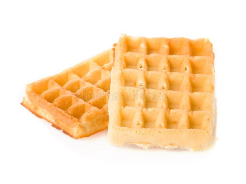 Waffles. Isolated on the white background royalty free stock image