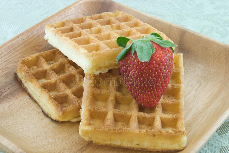 Download Waffles stock photo. Image of berry, fruit, grain, three - 9371116