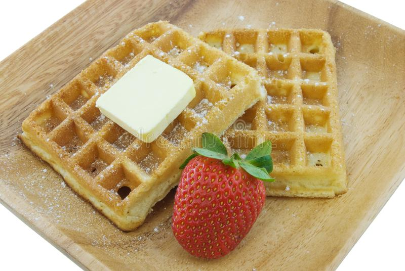 Download Waffles stock image. Image of butter, fruit, golden, white - 9371143