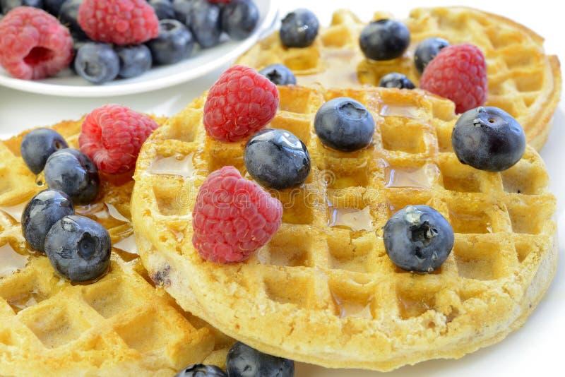 Download Waffles Com Mirtilos E Close Up Das Framboesas Imagem de Stock - Imagem de crispy, closeup: 29848083