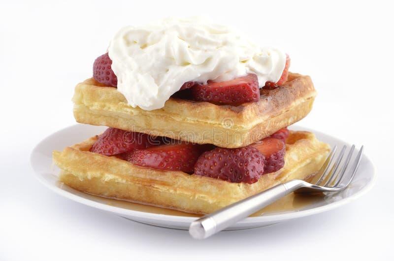 Waffles da morango imagem de stock royalty free