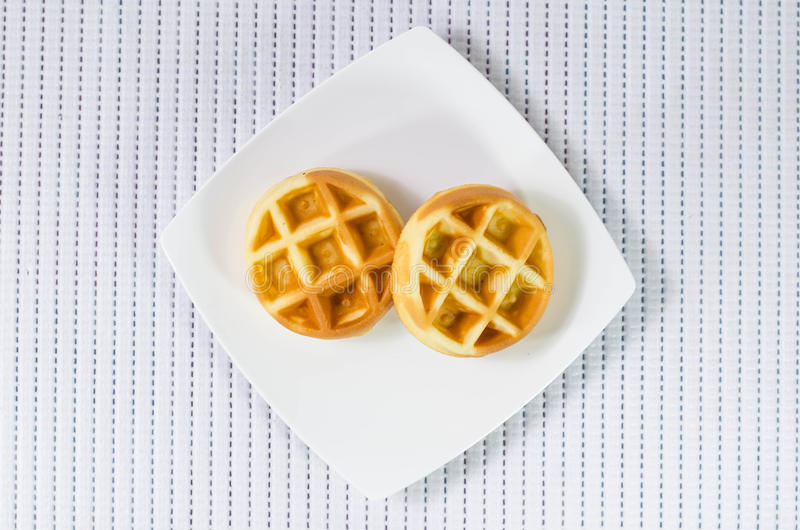 Waffles doces imagens de stock royalty free