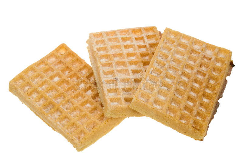 Download Waffles isolated stock image. Image of delicious, golden - 6974185