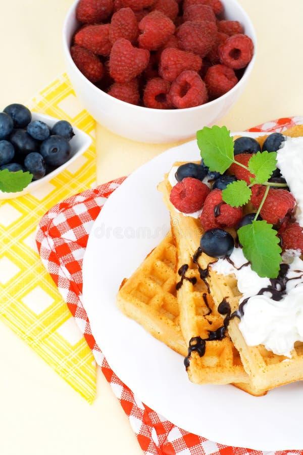 Waffles saborosos foto de stock royalty free