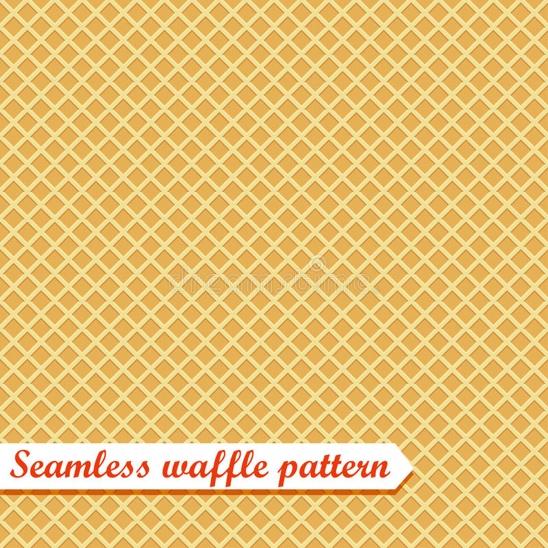 Waffles seamless vector pattern. Sweet and delicious food royalty free illustration