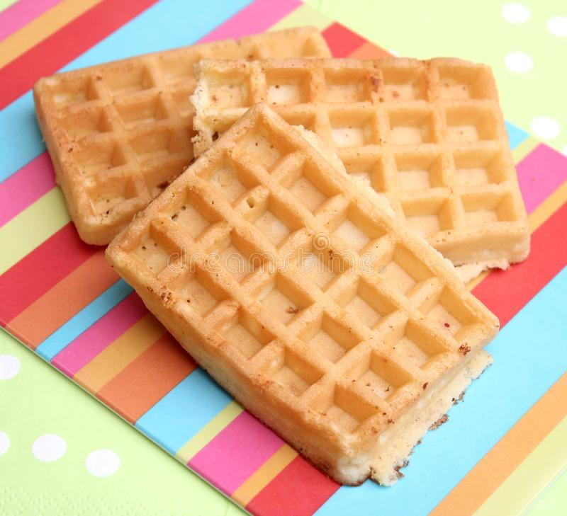 Waffles. Some waffles made of wheat flour and sugar stock photography