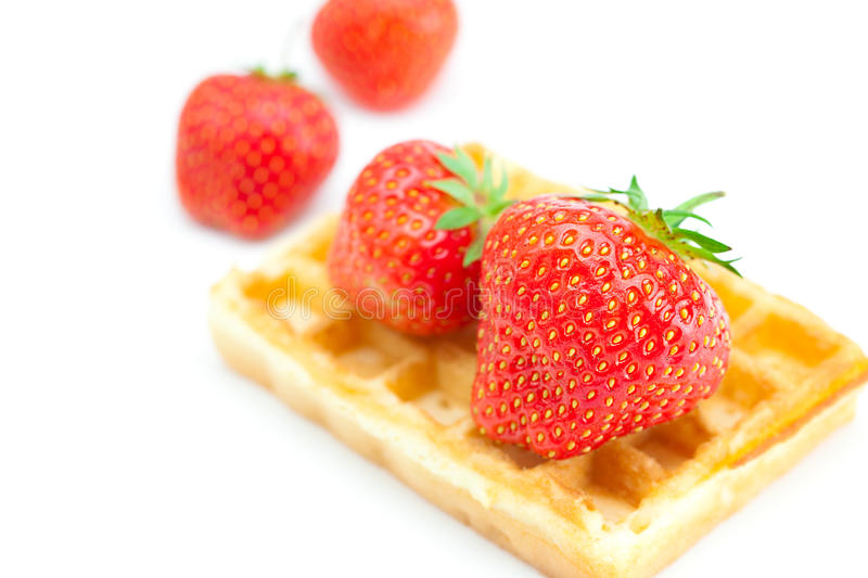 Download Waffles and strawberries stock image. Image of horizontal - 20076747