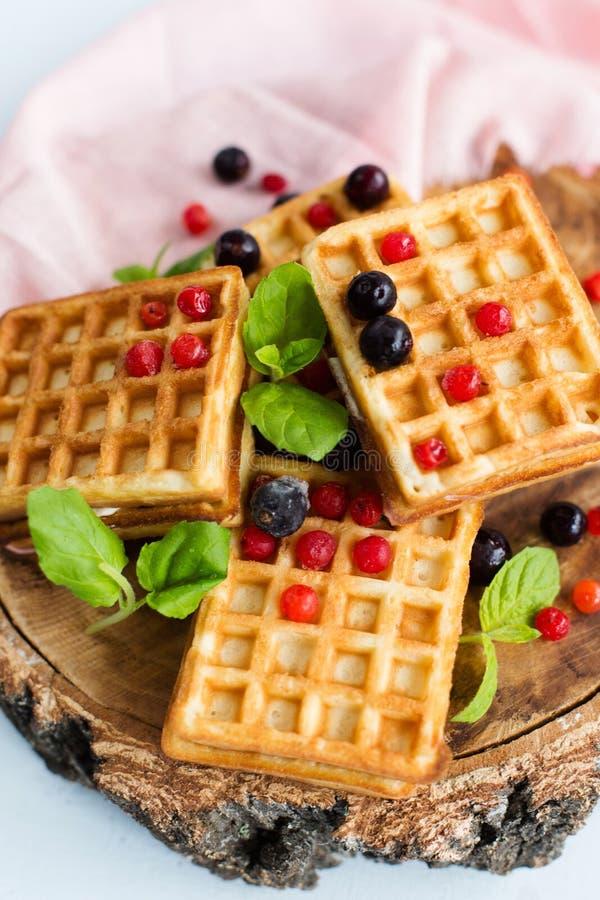 Waffles vienenses imagens de stock royalty free