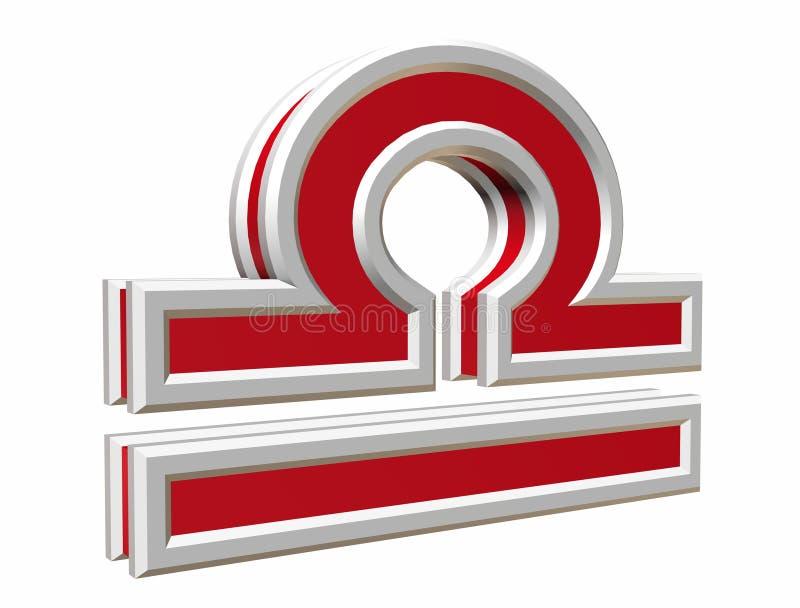 waga simbol zodiak obrazy stock