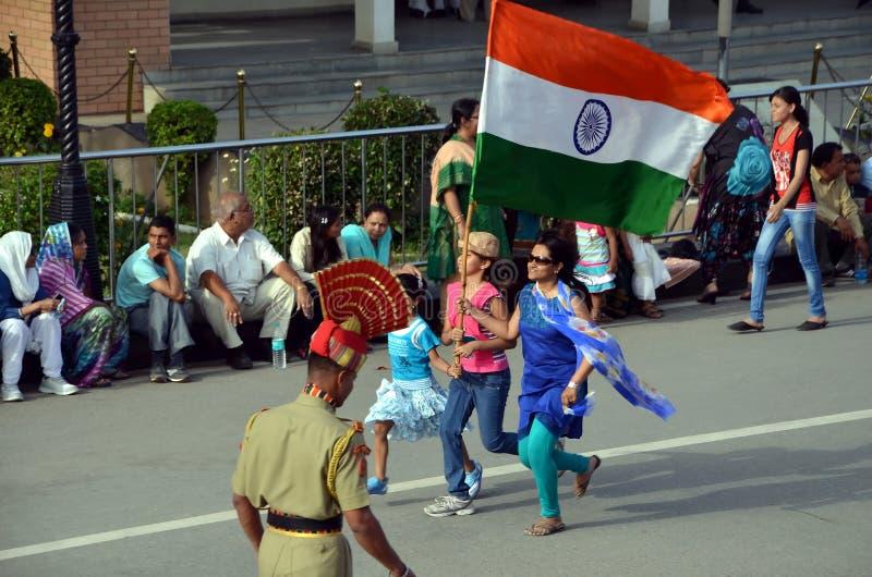 Wagah border in Amritsar, India stock images