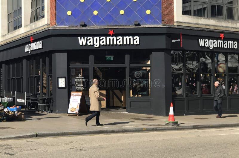 Wagamama restauracja obraz royalty free