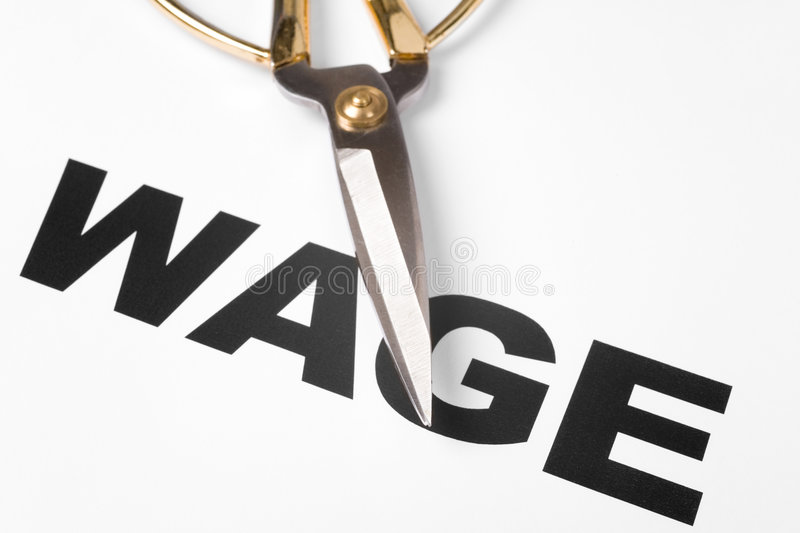 Download Wage Cut stock photo. Image of concepts, text, cutting - 8534438