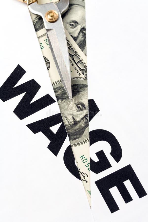 Wage Cut stock photo