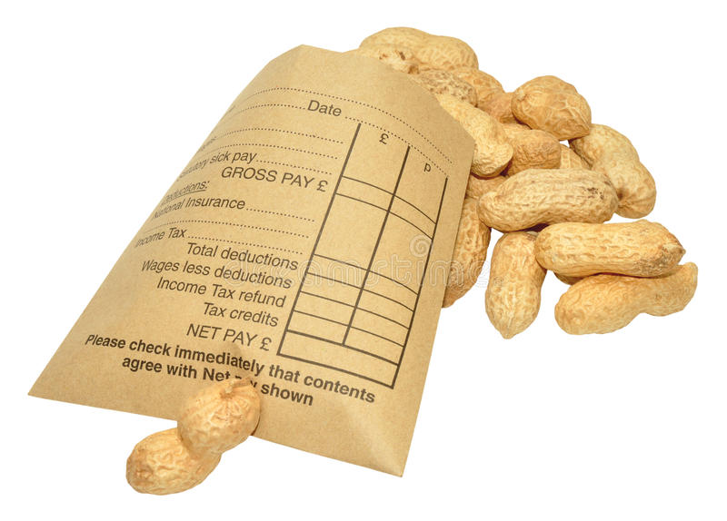 Download Wage Packet And Peanuts stock photo. Image of deductions - 34490068
