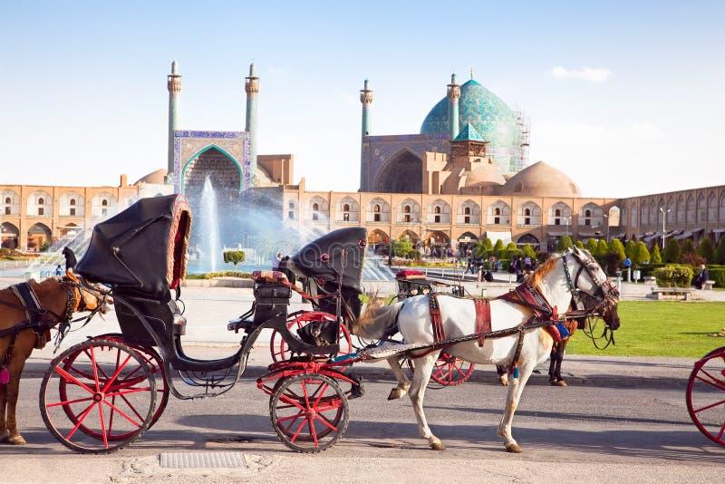 Wagen auf Naqsh-i Jahan Quadrat, Isfahan, der Iran lizenzfreie stockbilder