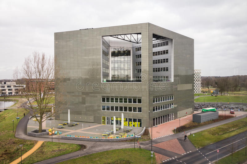WAGENINGEN, HOLLAND, - JANUARY 26, 2016: Wageningen University and Research Centre in Wageningen. WAGENINGEN, HOLLAND, - JANUARY 26, 2016: Orion building of the royalty free stock photography