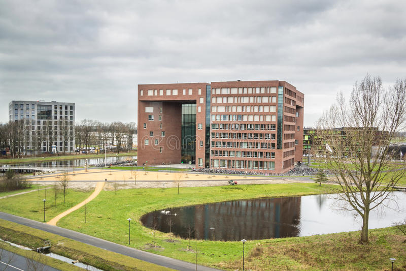 WAGENINGEN, HOLLANDE, - 26 JANVIER 2016 : Université de Wageningen et centre de recherches à Wageningen photos stock