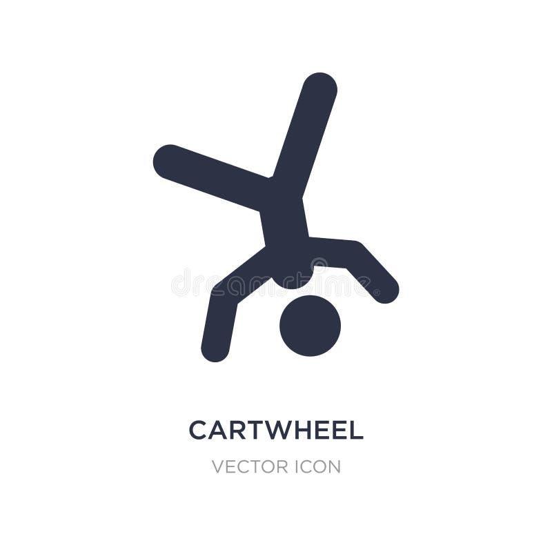 Wagenradikone auf weißem Hintergrund Einfache Elementillustration vom Sportkonzept lizenzfreie abbildung