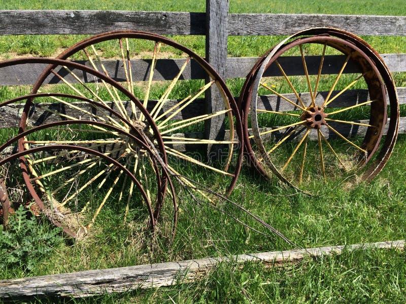 Wagenwielen royalty-vrije stock afbeeldingen