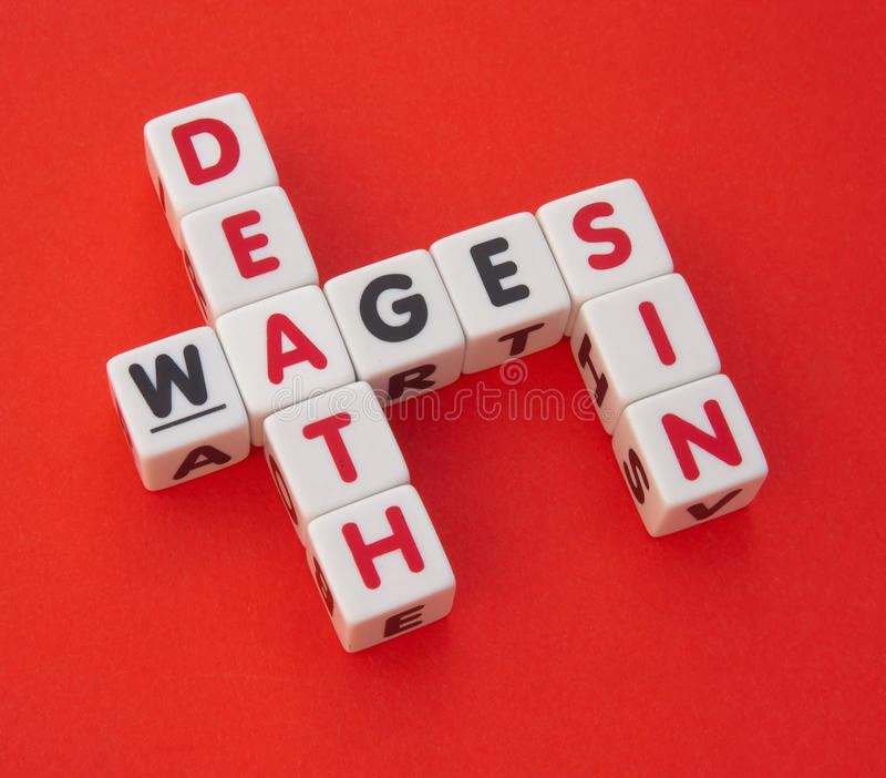 Wages of sin is death royalty free stock photography