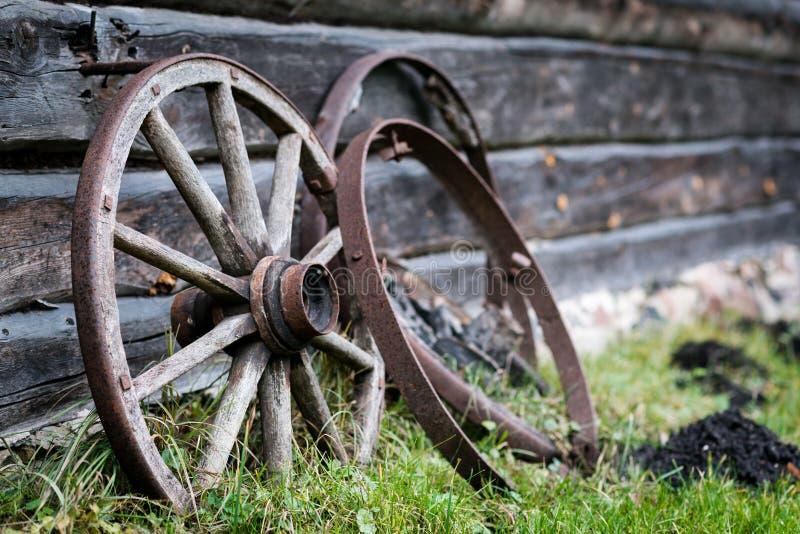 Waggonhjul royaltyfria foton