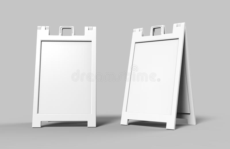 Wagi lekkiej i przenośne klingeryt ramy Reklamuje sztandarów stojaki są wielkim sposobem reklamować twój biznes na chodniczku i d royalty ilustracja