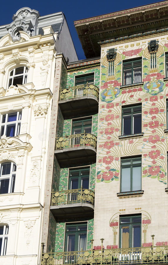 wagner otto nouveau искусства зодчества венское стоковое изображение rf