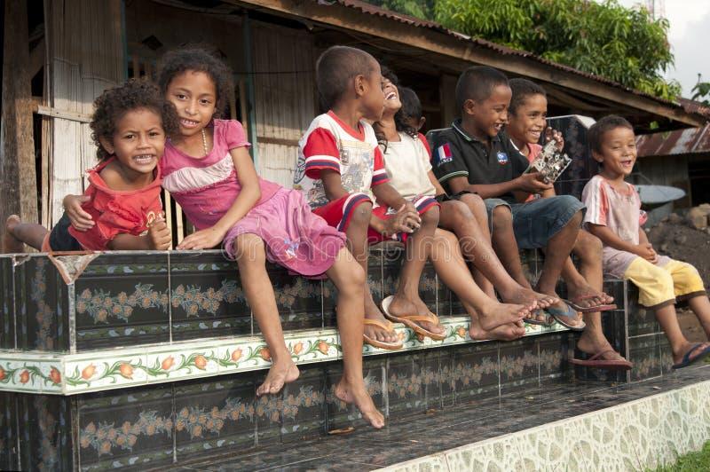 Wagomenge的弗洛勒斯印度尼西亚Ngada人 免版税库存照片
