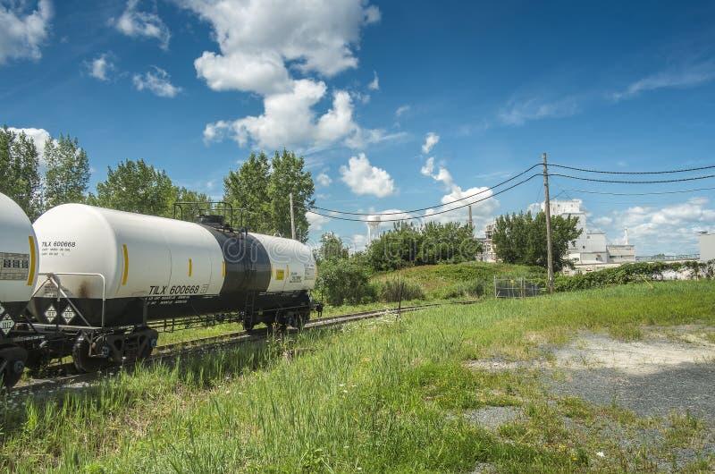 Wagon-citerne de chlore de chemin de fer photographie stock