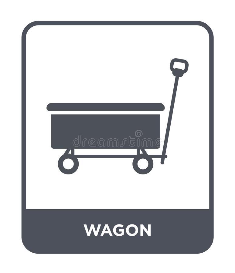 Wagon icon in trendy design style. wagon icon isolated on white background. wagon vector icon simple and modern flat symbol for. Web site, mobile, logo, app, UI royalty free illustration
