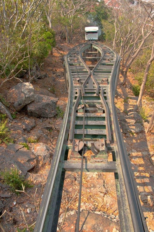 wagon kolei linowej fotografia stock
