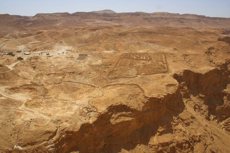 Wagon kolei linowej antyczny miasto Masada od Izrael obraz stock