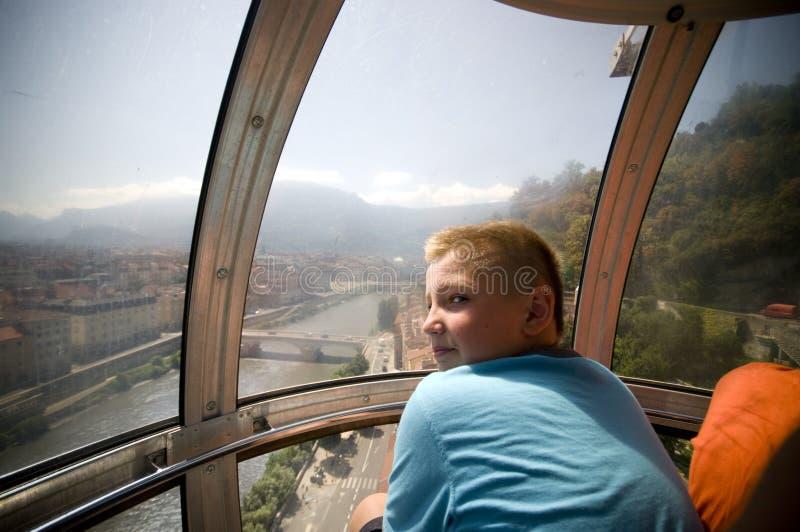 wagon kolei linowej Grenoble zdjęcia royalty free