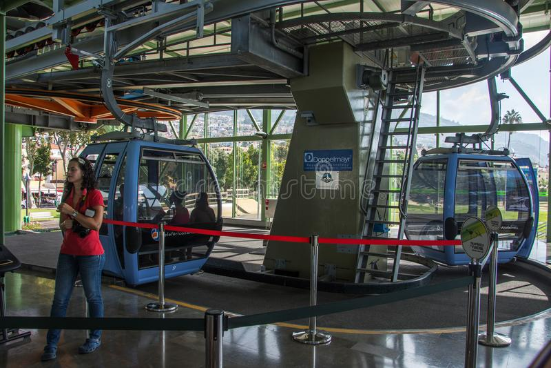 Wagon Kolei Linowej stacja przy Funchal fotografia stock