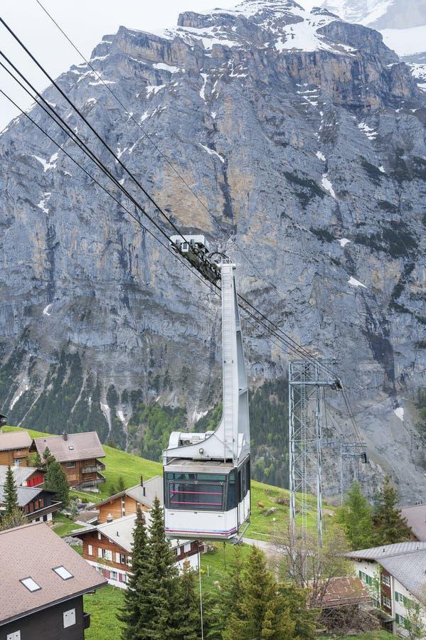 wagon kolei linowej Switzerland zdjęcia royalty free