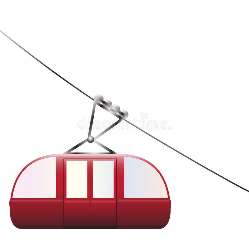 Wagon Kolei Linowej Zjazdowy royalty ilustracja