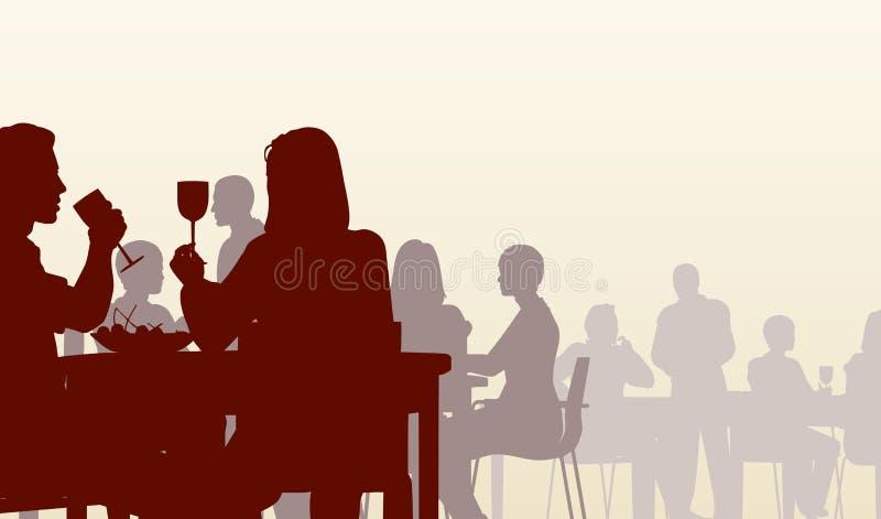 Wagon-restaurant illustration stock