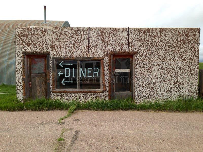 Wagon-restaurant abandonné image libre de droits