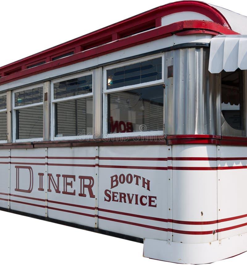 Wagon-restaurant américain d'isolement photographie stock