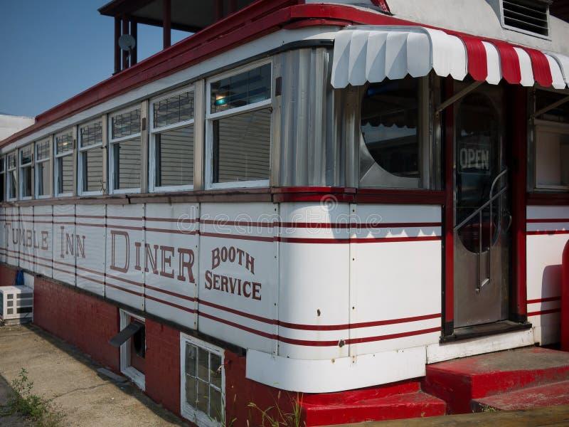 Wagon-restaurant d'auberge de dégringolade photo stock