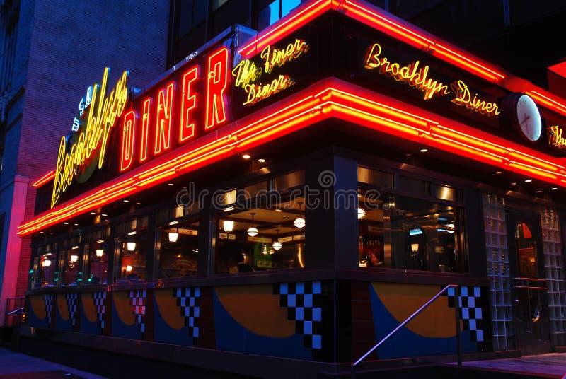 Wagon-restaurant de Brooklyn, Etats-Unis photo libre de droits