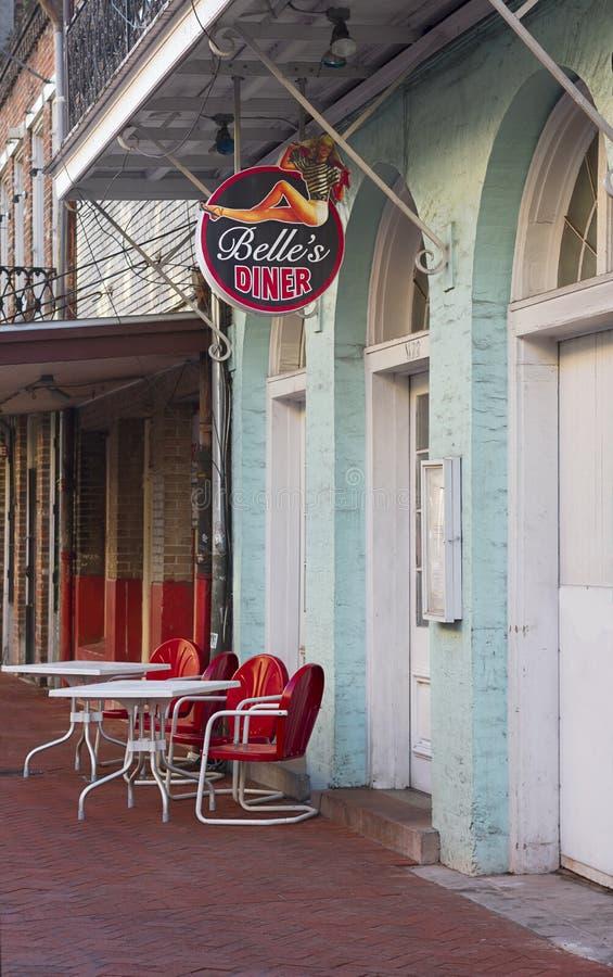 Wagon-restaurant de la Nouvelle-Orléans images libres de droits