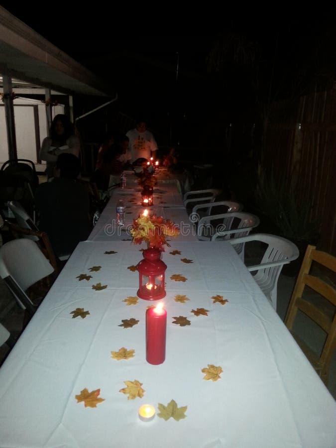 Wagon-restaurant de thanksgiving images libres de droits